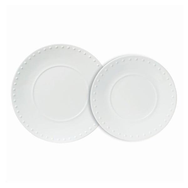 Sada 4 ks velkých talířů Caravane White
