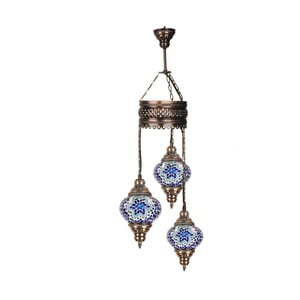 Lustră din sticlă cu 3 brațe Homemania Mosaic, ⌀ 13 cm