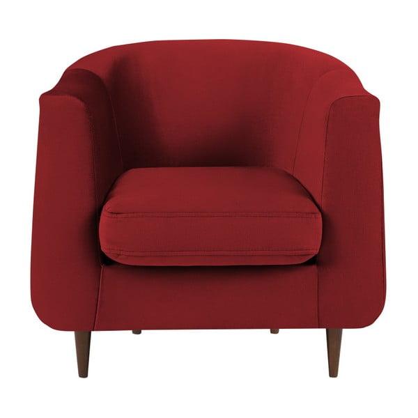 Fotoliu cu tapițerie din catifea Kooko Home Glam, roșu