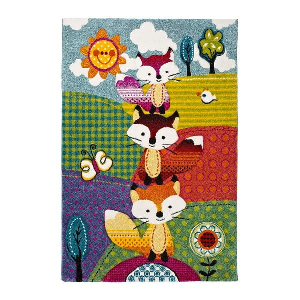 Covor pentru copii Universal Kinder Foxes,120x170cm