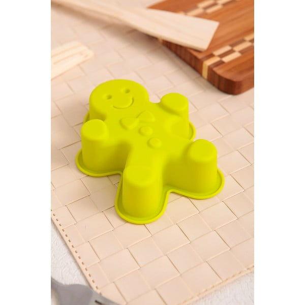 Silikonová formička Cookie Man, 2 ks, zelená