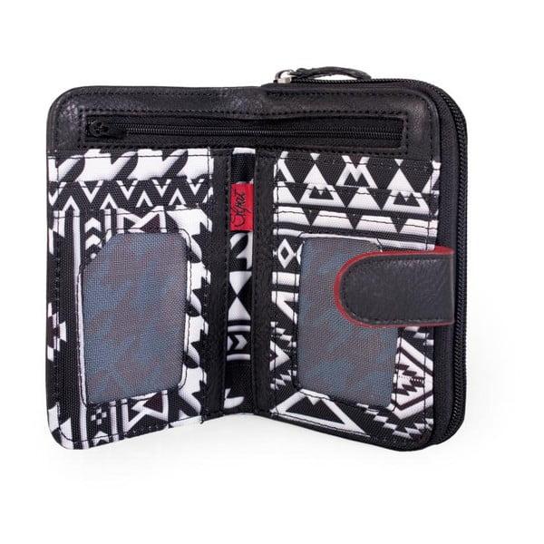 Černo-bílá peněženka SKPA-T, 14 x 9 cm