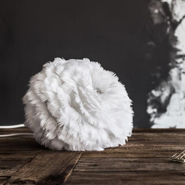 Bílé svítidlo z husího peří VITA Copenhagen EOS,Ø27cm
