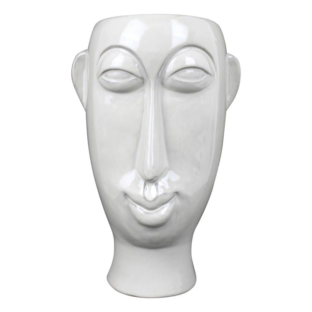 Bílá porcelánová váza PT LIVING Mask, výška 27,2 cm