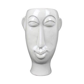 Vază din porțelan PT LIVING Mask, înălțime 27,2 cm, alb