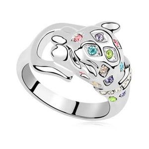 Prsten s krystaly Swarovski Panther Carnival, velikost 52