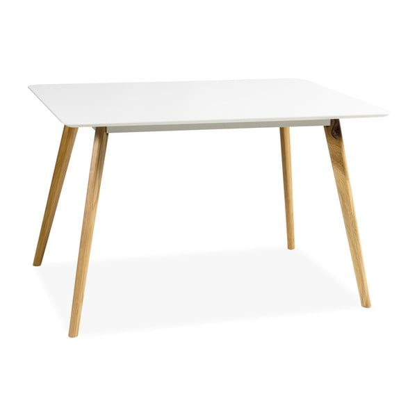Bílý jídelní stůl Signal Milan, délka120cm