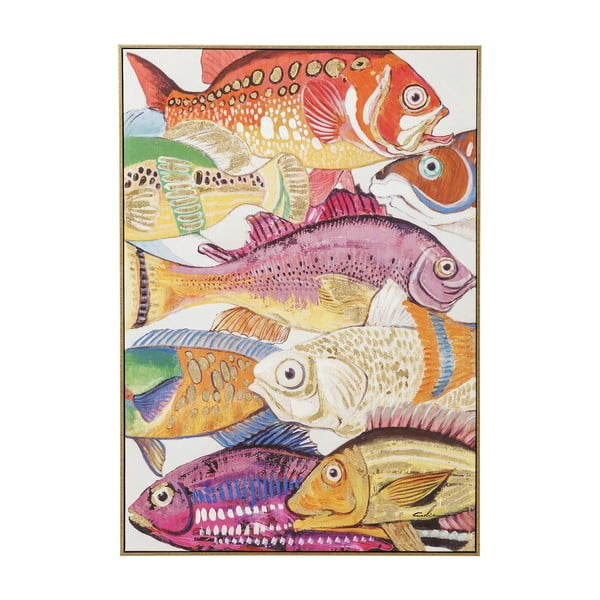 Obraz Kare Design Touched Fish Meeting I., 100 × 75 cm