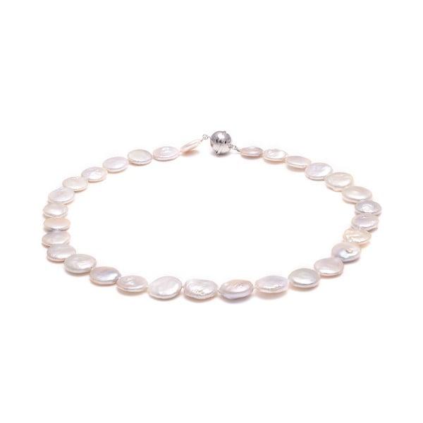 Bílý perlový náhrdelník GemSeller Buglo