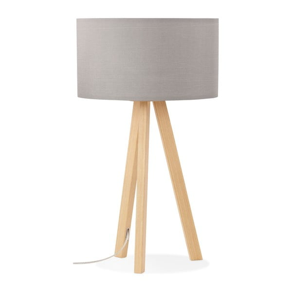Stolní lampa se šedým stínítkem Kokoon Trivet