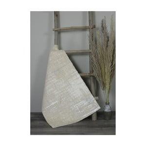 Krémová bavlněná koupelnová předložka My Home Plus Sensation, 60 x 100 cm