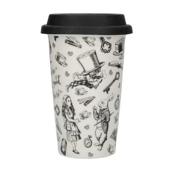 Porcelánový cestovní hrnek Creative Tops Alice In Wonderland, 350 ml