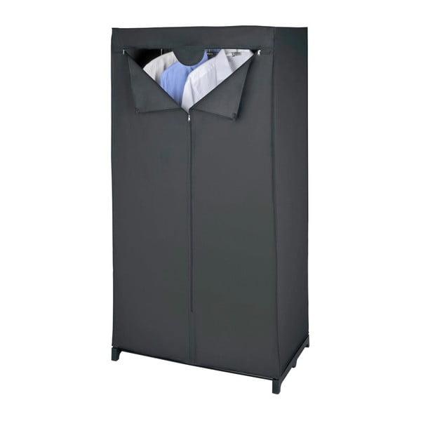 Čierna látková úložná skriňa Wenko, 150 x 50 x 75 cm