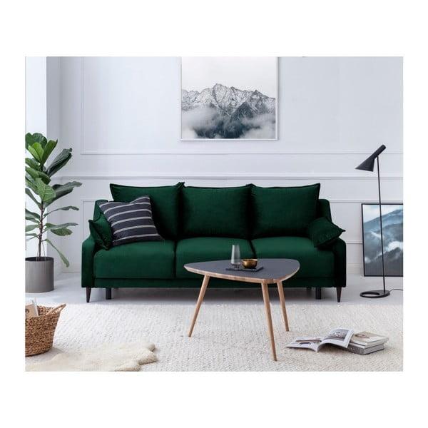 Canapea extensibilă cu 3 locuri Mazzini Sofas Freesia, verde