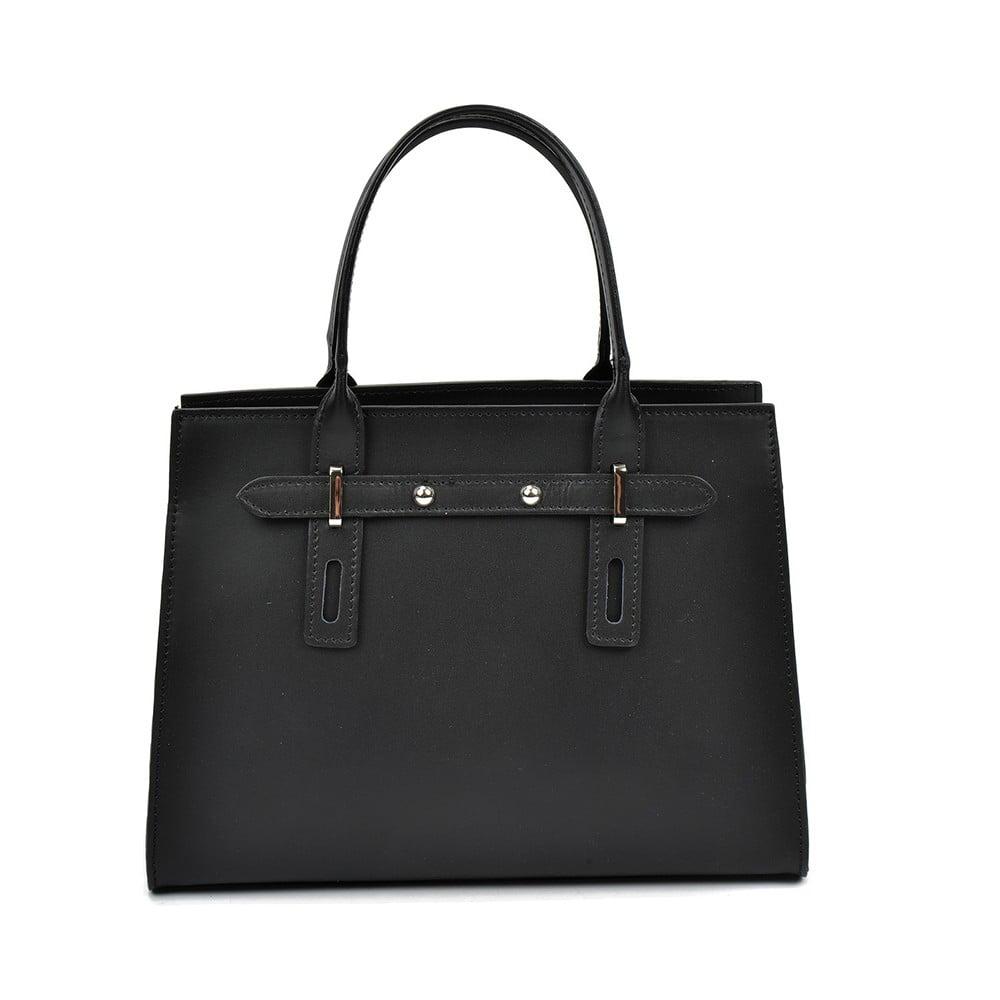 Černá kožená kabelka Mangotti Mariana