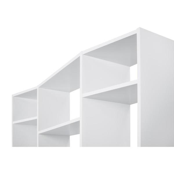Bílá knihovna TemaHome Valsa, šířka144cm