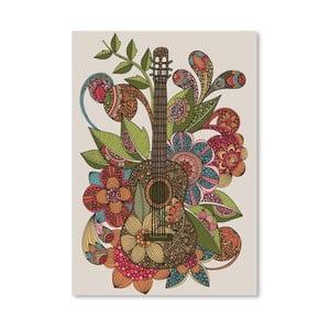 Autorský plakát Ever Guitar od Valentiny Ramos