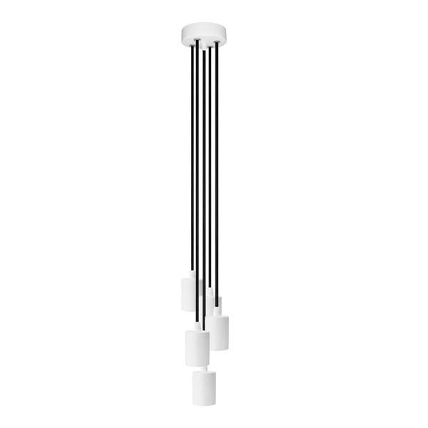 Pětice závěsných kabelů Cero, bílá/černá/bílá