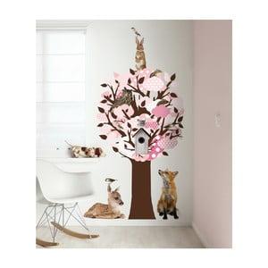 Samolepky Softtone Tree s háčky, růžová