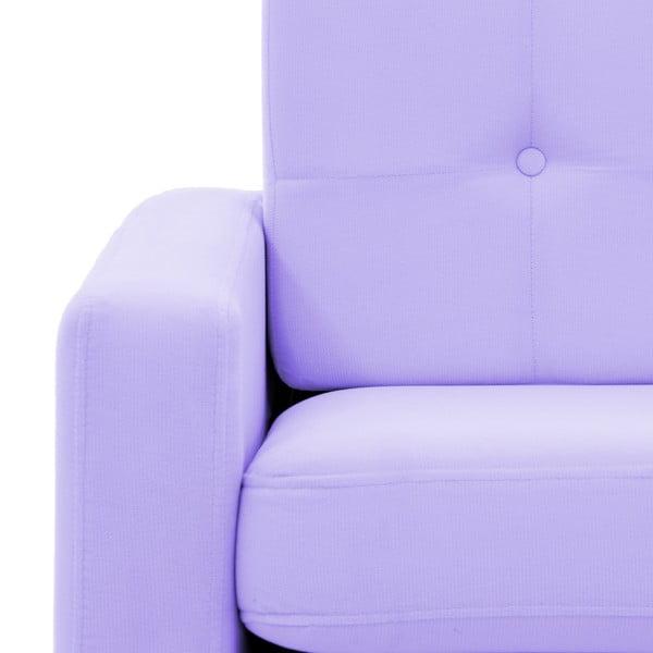 Pastelově fialová třímístná pohovka Vivonita Ina