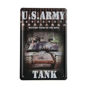 Cedule US Army Tank, 15x21 cm