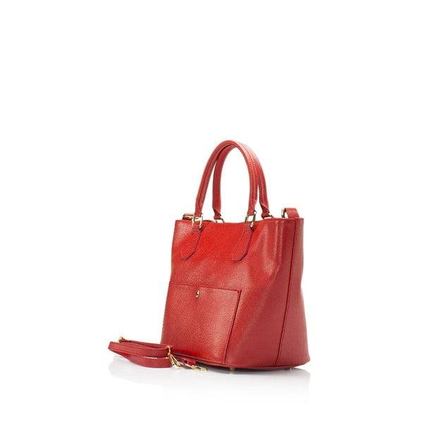 Geantă din piele Giulia Massari Jacqueline, roșu