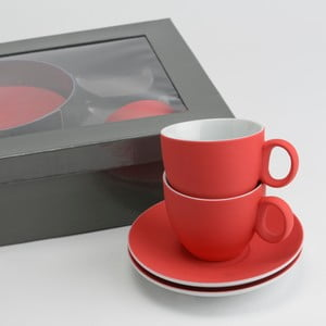 Sada 6 šálků s podšálky Coffee