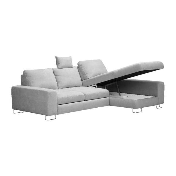 Světle šedá rohová rozkládací pohovka Windsor & Co Sofas, pravý roh Alpha