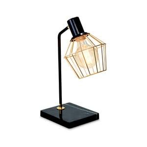 Černá stolní lampa Salt&Pepper Marble