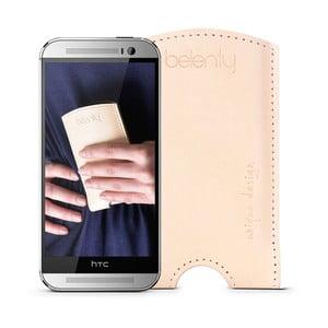 Kožený obal na HTC One M8 Cream