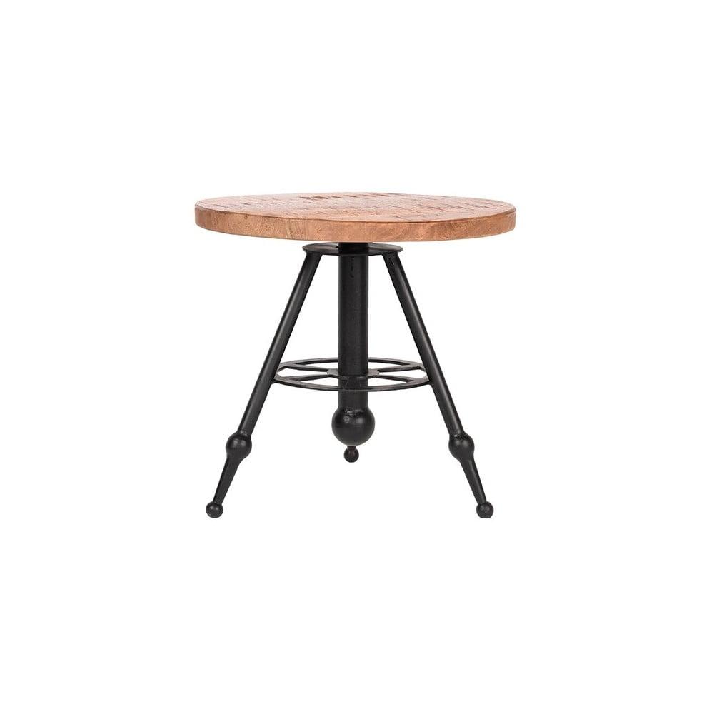 Odkládací stolek s deskou z mangového dřeva LABEL51 Solid, ⌀ 45 cm