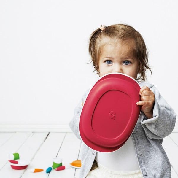 Dětský jídelní set Toddler, červený