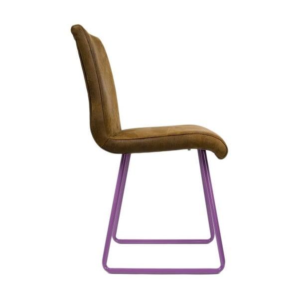 Židle Skids Leather Look Violet