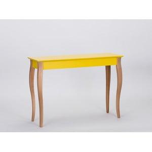 Žlutý odkládací stolek Ragaba Console,délka105cm
