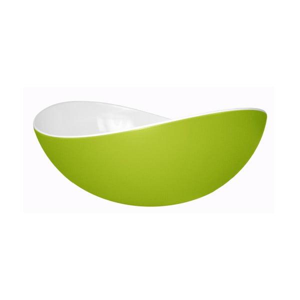 Zelená salátová mísa Entity, 23 cm