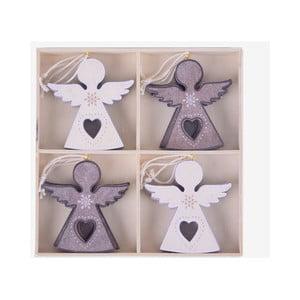 Sada 12 závěsných dekorací ve tvaru anděla Ego Dekor Home