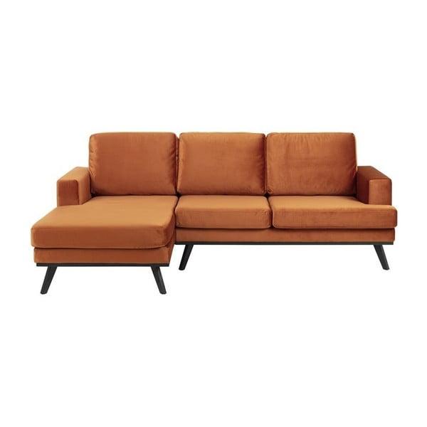 Canapea pe colț Actona Norvich, pe partea stângă, portocaliu