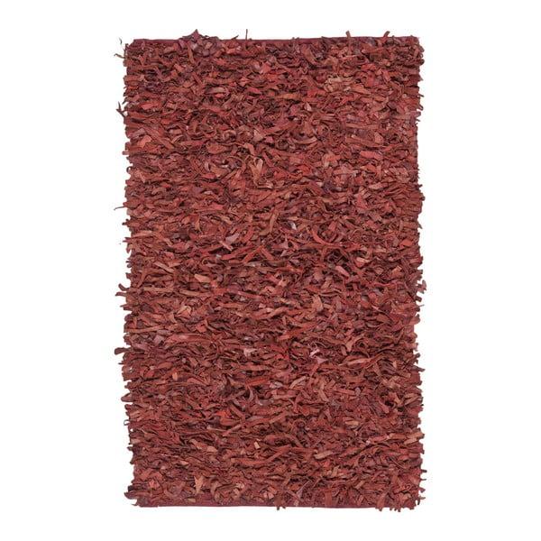 Kožený koberec Safavieh Avant Red, 182 x 121 cm