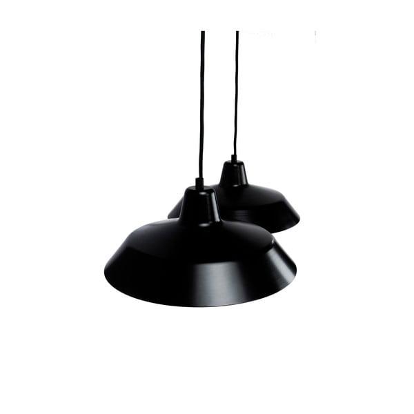 Závěsné svítidlo se 2 černými kabely a stínidly v černé a zlaté barvě Bulb Attack Cinco