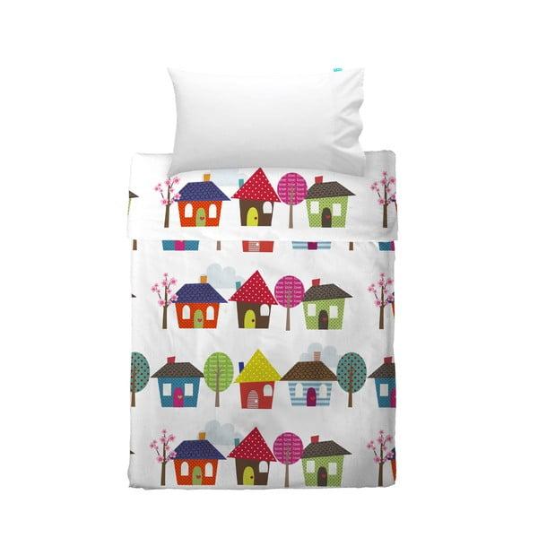 Prostěradlo a povlak na polštář Happy Homes, 120x180 cm