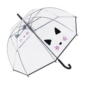 Transparentní deštník Cute Cat