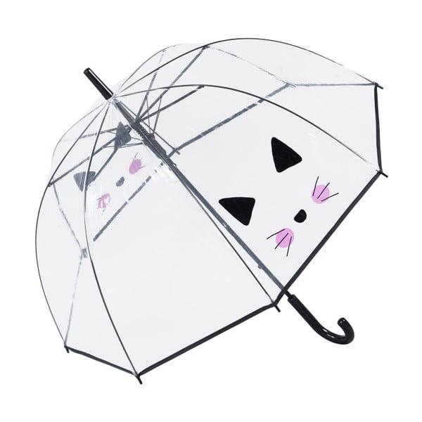 Przezroczysty parasol Birdcage Cute Cat, ⌀85cm
