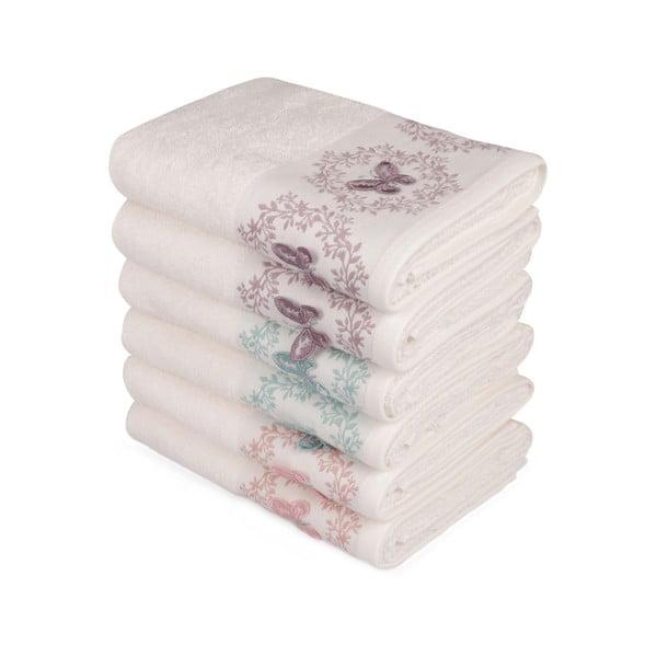 Sada 6 ručníků na ruce Butterflies