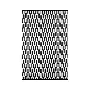 Černobílý oboustranný venkovní koberec Green Decore Jubilee, 120 x 180 cm