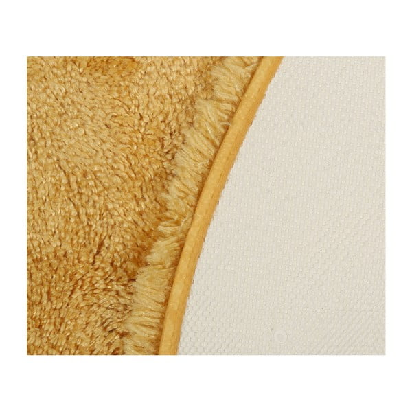 Žlutá koupelnová předložka Confetti Bathmats Miami, 100x100cm
