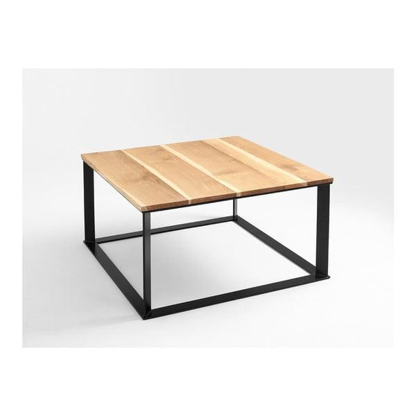 Skaden dohányzóasztal fekete lábazattal és tölgyfa asztallappal - Custom Form