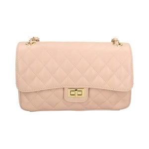 Pudrově růžová kožená kabelka Roberto Buono Pamela