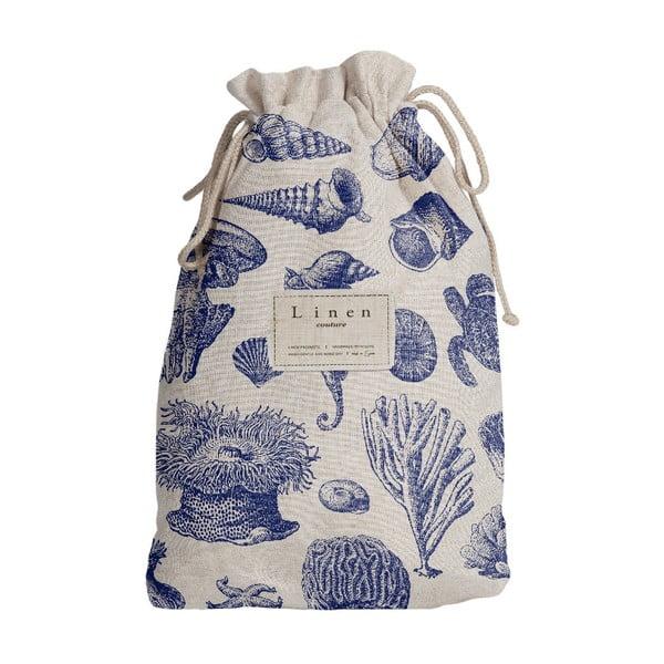Sac călătorie Linen Couture Blue Coral, lungime 44 cm