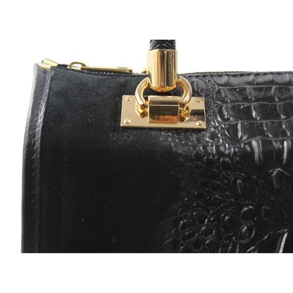 Černá kožená kabelka Signora