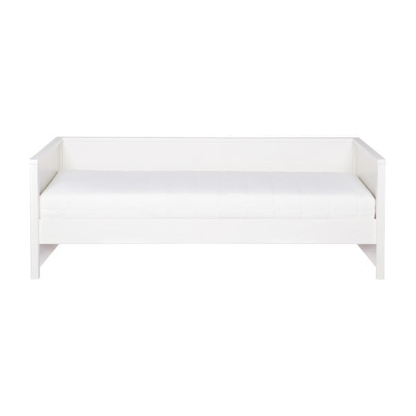 Biela posteľ/sofa WOOOD Nikki, 200×100 cm
